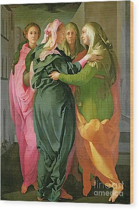The Visitation Wood Print by Jacopo Pontormo