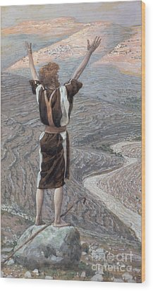 The Voice In The Desert Wood Print by Tissot