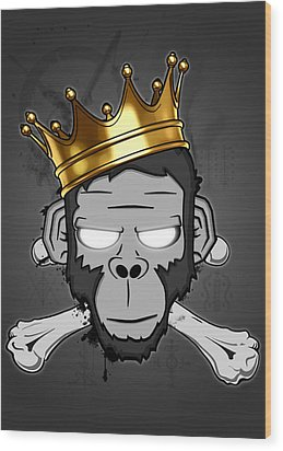 The Voodoo King Wood Print