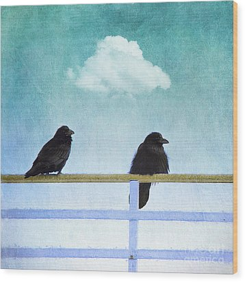 The Wait Wood Print by Priska Wettstein