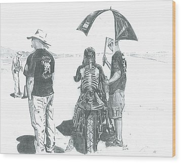 The Wait... Wood Print by Stacey Becker