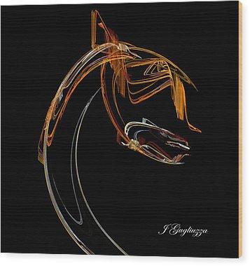 The Waiter Wood Print by Jean Gugliuzza
