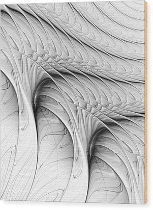 Wood Print featuring the digital art The Wall by Anastasiya Malakhova