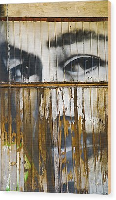The Walls Have Eyes Wood Print by Skip Hunt