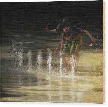 The Water Maestro  Wood Print
