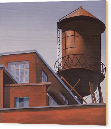 The Water Tower Wood Print by Duane Gordon