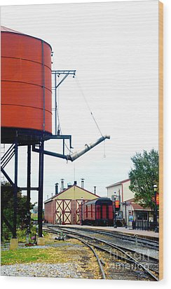 Wood Print featuring the photograph The Water Tower by Paul W Faust - Impressions of Light