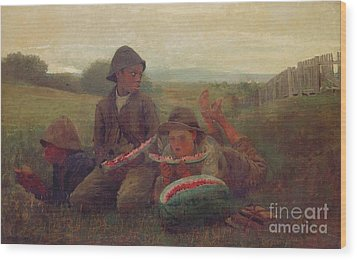 The Watermelon Boys Wood Print by Winslow Homer