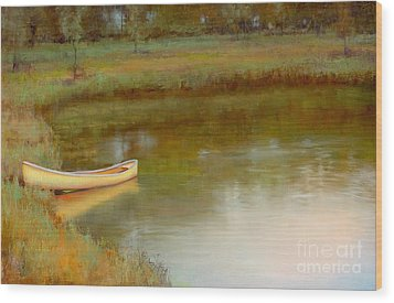 The Water's Edge Wood Print by Lori  McNee