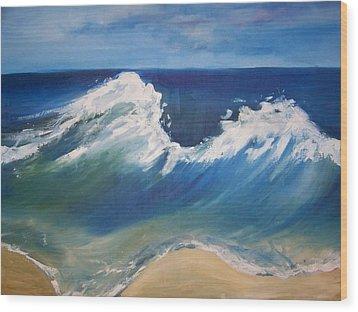 The Wave Wood Print by Georgeanne Wayman