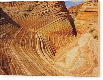 The Side Wave Wood Print