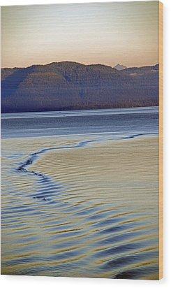 The Waves Wood Print by Carol  Eliassen