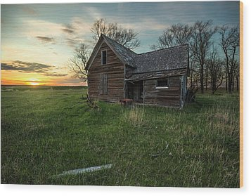 Wood Print featuring the photograph The Way She Goes by Aaron J Groen