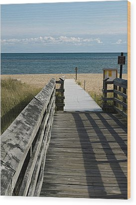 Wood Print featuring the photograph The Way To The Beach by Tara Lynn