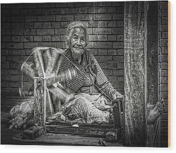 The Weaver Wood Print