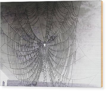 The Web We Weave Wood Print by Margaret Hamilton