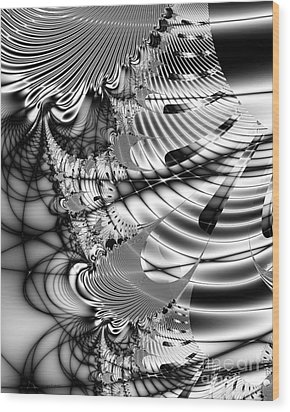 The Web We Weave Wood Print by Wingsdomain Art and Photography