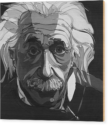 The Weight Of Genius Wood Print