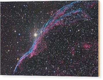 The Western Veil Nebula Wood Print by Roth Ritter