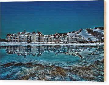 The Westin On Ice Wood Print