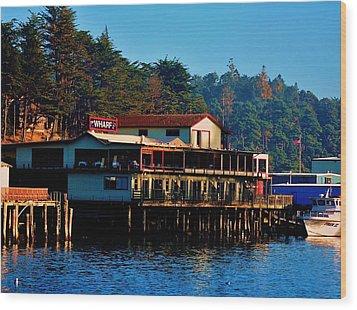 The Wharf Wood Print