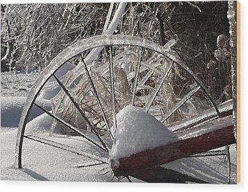 The Wheel Wood Print