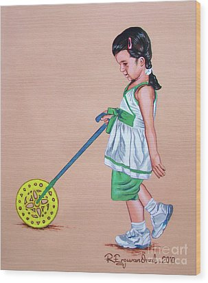 The Wheel - La Rueda Wood Print