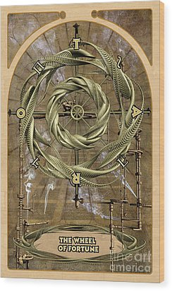 The Wheel Of Fortune Wood Print by John Edwards