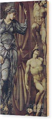 The Wheel Of Fortune Wood Print by Sir Edward Burne Jones