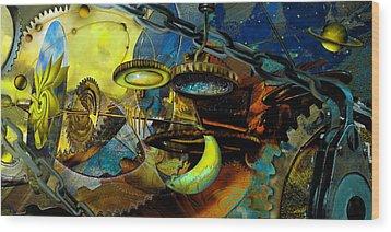The Wheelwork Of Antikythera  Wood Print by Anne Weirich