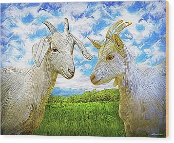 The Whispers Of Goats Wood Print