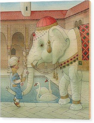 The White Elephant 07 Wood Print by Kestutis Kasparavicius