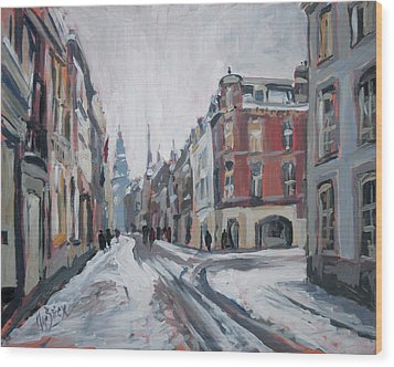 The White Grand Canal Street Maastricht Wood Print by Nop Briex