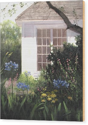 The White House Wood Print by Linda Jacobus