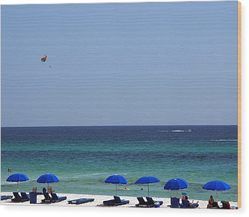 The White Panama City Beach - Before The Oil Spill Wood Print by Susanne Van Hulst