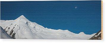 The White Summit Wood Print by Konstantin Dikovsky