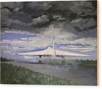 The White Vulcan Wood Print by Mike Lester