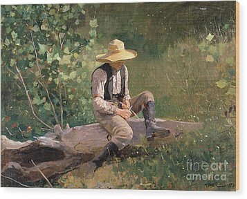 The Whittling Boy Wood Print by Winslow Homer