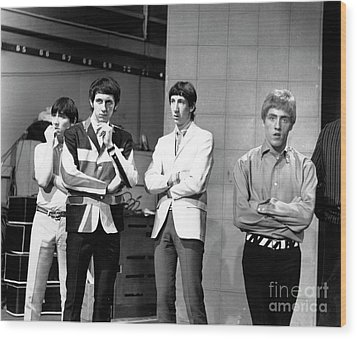 Wood Print featuring the photograph The Who 1965 by Chris Walter