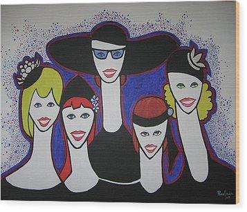 The Widow Ladies Wood Print