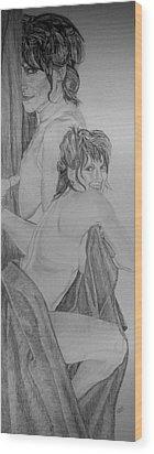 The Wife Wood Print by Dean Herbert