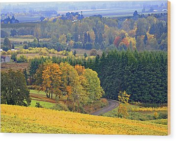 The Willamette Valley Wood Print
