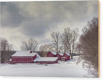 Wood Print featuring the photograph The Williams Farm by Susan Cole Kelly