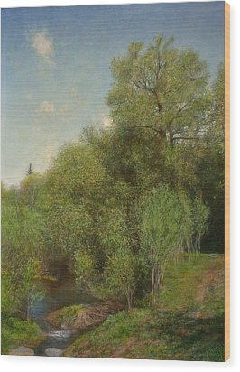 The Willow Patch Wood Print by Wayne Daniels