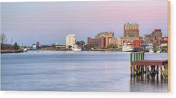 The Wilmington Skyline Wood Print by JC Findley