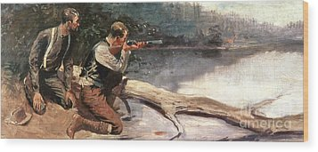 The Winchester Wood Print by Frederic Remington