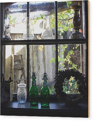Wood Print featuring the photograph The Window by Mark Alan Perry