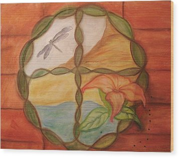 The Window Wood Print by Michelle  Thomann-Ramirez