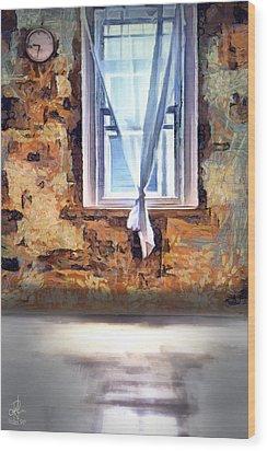 Wood Print featuring the digital art The Window by Pennie McCracken