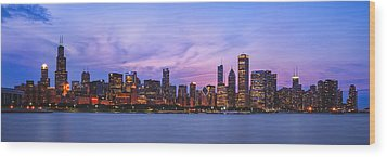 The Windy City Wood Print by Scott Norris